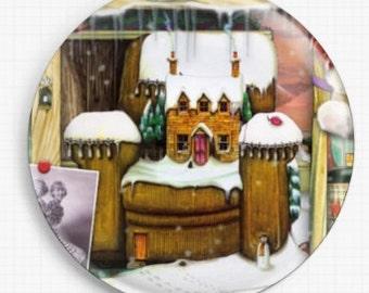 Needle Minder, Licensed Art, Colin Thompson, Christmas stories 8, Bookshelf, Cross Stitch Keeper, Fridge Magnet