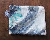 the neutral elements pouch #4 ... one of a kind, hand painted, zip top pouch