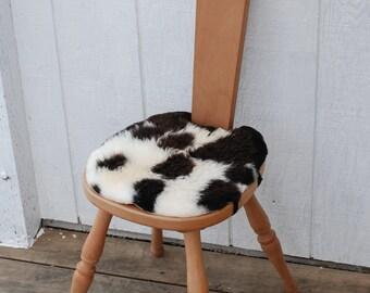 Sheepskin Spinning Stool  Seat cover