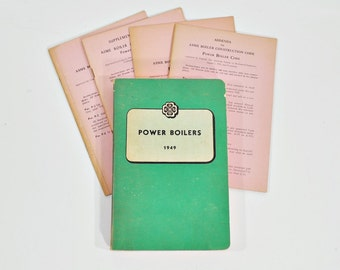 1949 Rules for Construction of Power Boilers Sections I, VI and Appendix - ASME Code