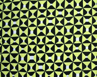 SALE - Astrid, Blix, Chartreuse, Yellow and Black, Erin McMorris, Free Spirit Fabrics, 100% Cotton Quilt Fabric, Quilting Fabric
