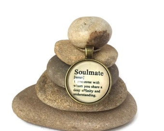 Soulmate Rock Cairn, Gratitude, Inspirational, Wife, Stone Cairn, Desk Gift, Stacked Stones, Boyfriend, Husband, girlfriend, Infinite