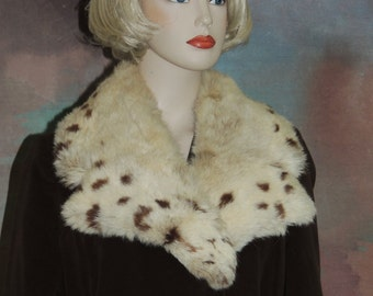 Country Pacer Brown Velveteen Fur Trim Coat S to M
