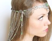Purple and Silver Headdress for Wedding