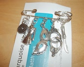 Safety Pin PRETTY LITTLE LIARS Inspired Charm Brooch
