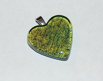 Glass Heart Pendant 44