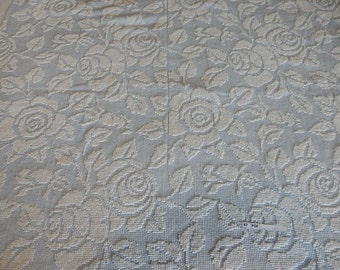 """one pieces vintage Hobnail Chenille Fabric 46""""x 34"""" (87-POF)"""