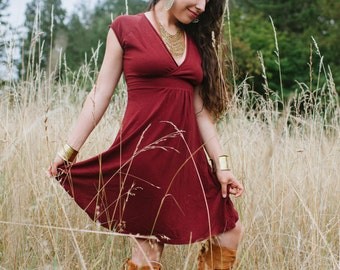 Meadow Dress/ Hemp and Organic Cotton