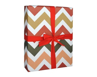 Gift Wrap Chevron Holiday - 6 Sheets - Wrapping Paper Christmas Holiday
