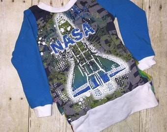 Upcycled 18m NASA Ruffled Tunic