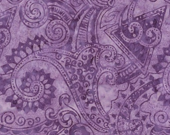 Lavender Purple Geometric Tonga Batik Fabric - Timeless Treasures - B3940 - Tahiti