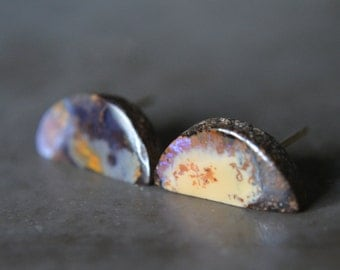 Boulder Opal Stud Earrings