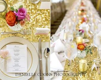 Gold Sparkling Sequin Table Runner Wedding Table Runner