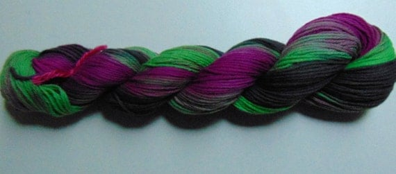 Wicked- 100 Organic Cotton, Hand Dyed, Available in Many Weights, Variegated Yarn