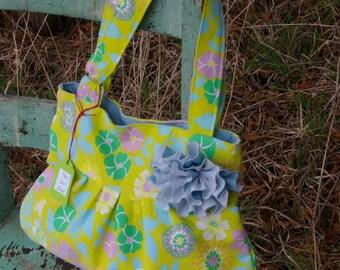 April's Purse - Green Flowers