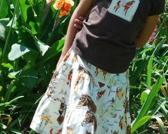 ON SALE Sheree's Atelier Custom Horse Lovers 3-Tiered Skirt and Appliqued Tee Set...Custom Size 2-8