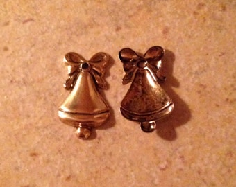 12 Christmas Bell Charms for Crafting and Jewelry Making