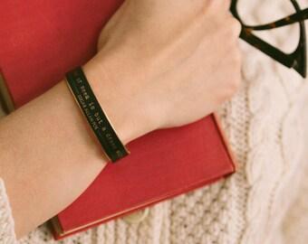 Literary Cuff Bracelet - Edgar Allan Poe Jewelry -  Dream Within A Dream - Book Jewelry - Skinny Bracelet