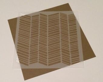 Square 5 inch stencil - Chevron