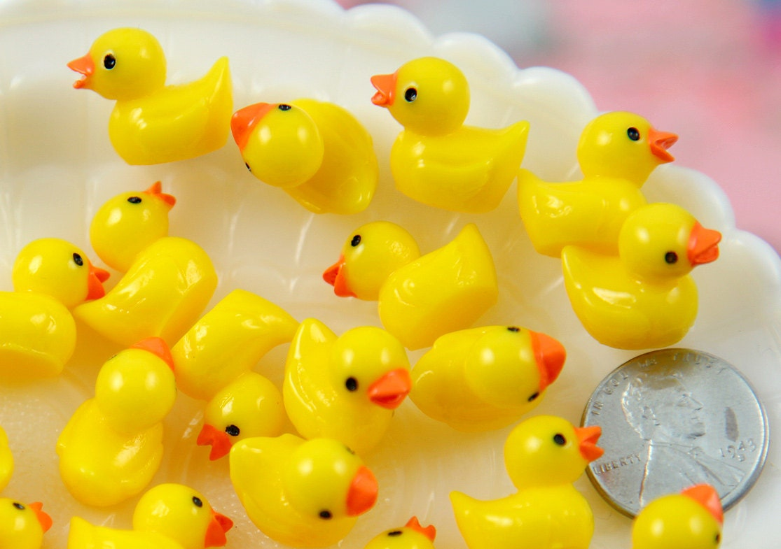 Rubber Duckies 18mm Tiny Adorable Miniature Rubber Ducky
