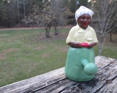 McCoy Black Mammy Towel Hook, Vintage Ceramic Coat Hook--Kitchen Decor--Retro Country Farmhouse Wall