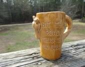 Vintage Horse Mug--Humorous Coffee Cup--Figural Mug--Travel Souvenir--Ceramic Cup