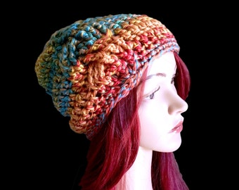 Winter Palette Braid -  Fall Winter Beanie with Deep Crown - Braided Cable Texture -  Women Girls Teen - Ready to Ship