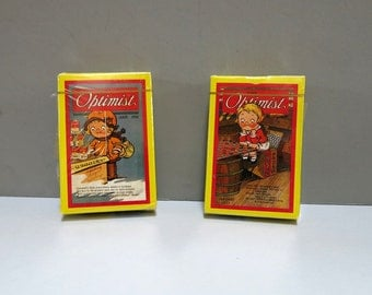 Campbells Kids Playing Cards Bridge Set Vintage 1993 Premium Graphics from The Optimist Magazine