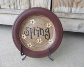 Primitive Shabby Chic Daisy Spring Time Hand Lettered Mini Word Plate GCC2347
