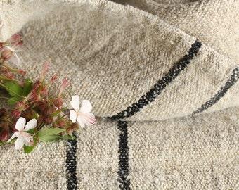 PB 235/A: grain sack,  antique linen;rarest BLACK ;  pillow benchcushion;  wedding decoration; yachting pillow, thanksgiving; gift bag