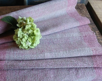 P 324 antique handloomed lin FADED ROSE 4.15yards by 22.44inches ; upholstery fabric wool and lin cushion pillow