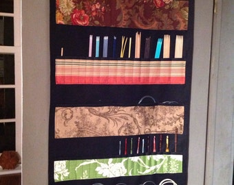 Hanging Needle Case Organizer- in stock, ready to ship- keeps everything at your fingertips