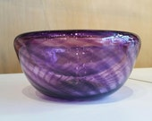 Purple Blown Glass Bowl, ...