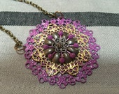 Necklaces  Vintage  Burst collection Hand painted