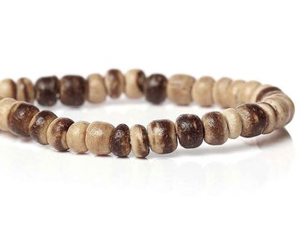 140 Natural marblized coconut wood Beads 4mm  (PC204C)
