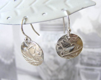 Fine Silver Bird Earrings