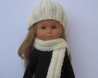Clothes for Corolle Les Cheries,Paola Reina Doll Hand Knit Hat and Scarf Set