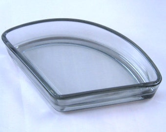 Smoke Grey Glass Inserts for Digsmed or Other Teak Relish Trays Denmark 6 Available