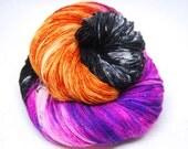 "Glam Rock Sparkle Sock Yarn - ""Casting Spells"" -  Handpainted Superwash Merino - 438 Yards"