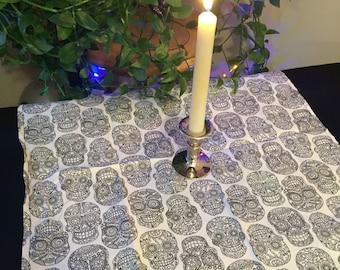 Sugar Skull - Small Pagan Wiccan Altar Table Cloth Center Piece