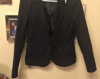 Cute black blazer with detachable hood sz S