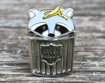 Trash Panda Raccoon Lapel Pin