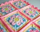 Baby Girl Blanket.Crocheted in a Baby Pink