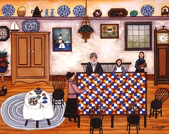 Cape Cod Quilters - Limited Edition Print _ by J.L. Munro