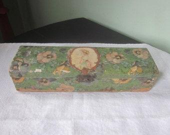 Antique Victorian Vanity Decoupage Box