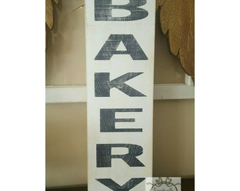 Handpainted BAKERY sign