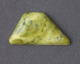 Serpentine Stone Cabochon - Large Geometric Shaped Stone