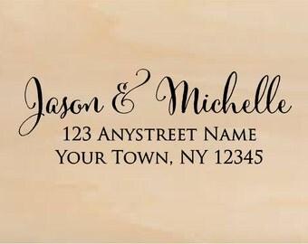 Address stamp self inking - return address stamp - Wedding Gift, Bridal Shower Gift, Realtor Gift, Housewarming Gift, Christmas gift R348