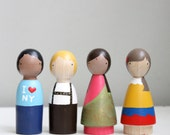 Children of the World // Wooden Peg Dolls //  Fair Trade Wooden Toys Educational Toys Historical International Multicultural