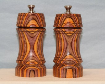 5 Inch COLORWOOD SALT & PEPPERMILL Set Numbers 1439   1440